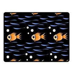 Fish pattern Fleece Blanket (Small)