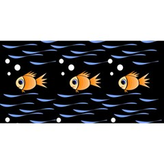 Fish Pattern You Are Invited 3d Greeting Card (8x4)