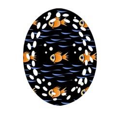 Fish pattern Ornament (Oval Filigree)