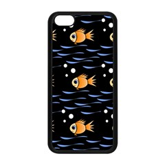 Fish pattern Apple iPhone 5C Seamless Case (Black)