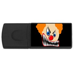 Evil clown USB Flash Drive Rectangular (1 GB)