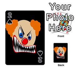 Evil Clown Playing Cards 54 Designs