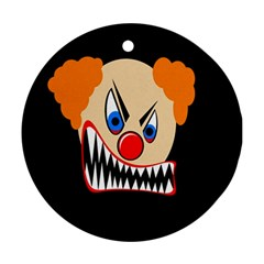 Evil clown Round Ornament (Two Sides)