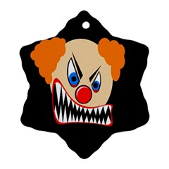 Evil clown Snowflake Ornament (2-Side)