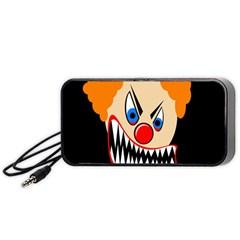 Evil clown Portable Speaker (Black)