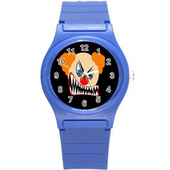 Evil clown Round Plastic Sport Watch (S)