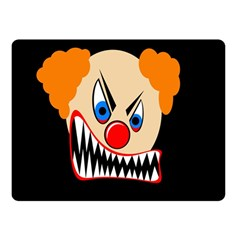 Evil clown Double Sided Fleece Blanket (Small)