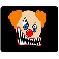 Evil clown Double Sided Fleece Blanket (Medium)