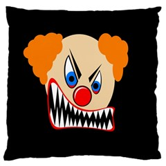 Evil clown Large Flano Cushion Case (One Side)
