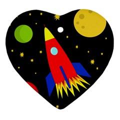 Spaceship Ornament (Heart)