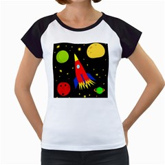 Spaceship Women s Cap Sleeve T