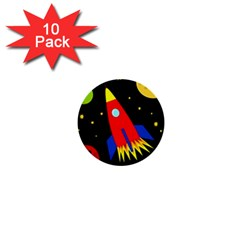 Spaceship 1  Mini Buttons (10 pack)