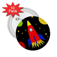 Spaceship 2.25  Buttons (10 pack)