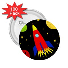 Spaceship 2.25  Buttons (100 pack)