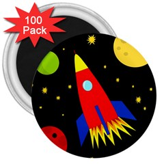 Spaceship 3  Magnets (100 pack)