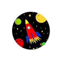 Spaceship Magnet 3  (Round)