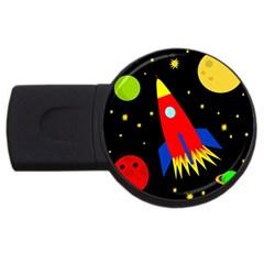 Spaceship USB Flash Drive Round (1 GB)