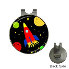 Spaceship Hat Clips with Golf Markers