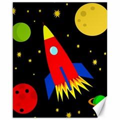 Spaceship Canvas 16  x 20