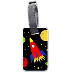 Spaceship Luggage Tags (Two Sides)