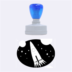 Spaceship Rubber Oval Stamps