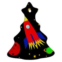 Spaceship Christmas Tree Ornament (2 Sides)