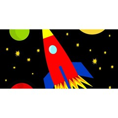Spaceship YOU ARE INVITED 3D Greeting Card (8x4)