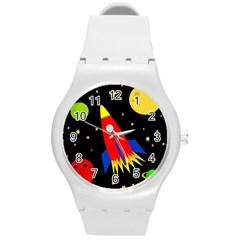 Spaceship Round Plastic Sport Watch (M)