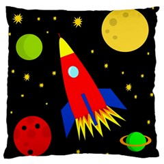 Spaceship Large Flano Cushion Case (Two Sides)