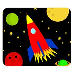 Spaceship Double Sided Flano Blanket (Small)
