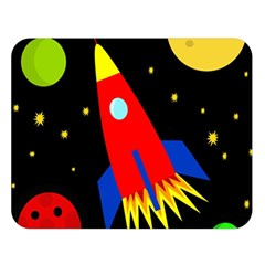 Spaceship Double Sided Flano Blanket (Large)