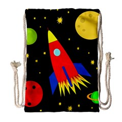 Spaceship Drawstring Bag (Large)