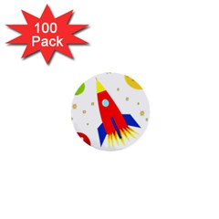 Transparent spaceship 1  Mini Buttons (100 pack)