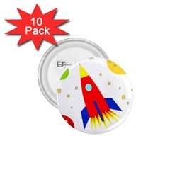Transparent spaceship 1.75  Buttons (10 pack)
