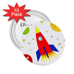Transparent spaceship 2.25  Buttons (10 pack)