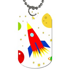 Transparent spaceship Dog Tag (One Side)