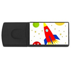 Transparent spaceship USB Flash Drive Rectangular (1 GB)