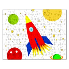 Transparent spaceship Rectangular Jigsaw Puzzl