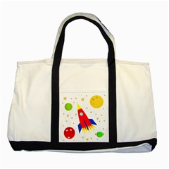 Transparent spaceship Two Tone Tote Bag
