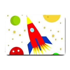 Transparent spaceship Small Doormat