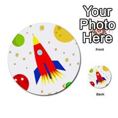 Transparent spaceship Multi-purpose Cards (Round)