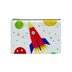 Transparent spaceship Cosmetic Bag (Medium)