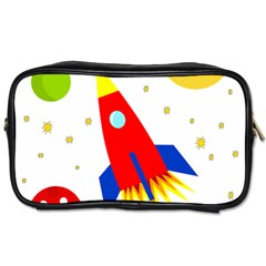 Transparent spaceship Toiletries Bags 2-Side