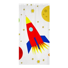 Transparent spaceship Shower Curtain 36  x 72  (Stall)