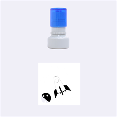Transparent spaceship Rubber Round Stamps (Small)