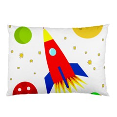 Transparent spaceship Pillow Case (Two Sides)