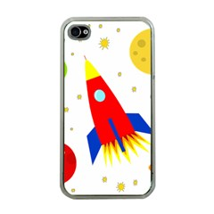 Transparent spaceship Apple iPhone 4 Case (Clear)