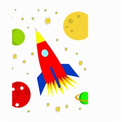 Transparent spaceship Small Garden Flag (Two Sides)