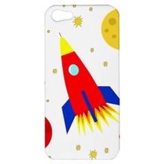 Transparent spaceship Apple iPhone 5 Hardshell Case