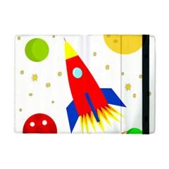 Transparent spaceship Apple iPad Mini Flip Case